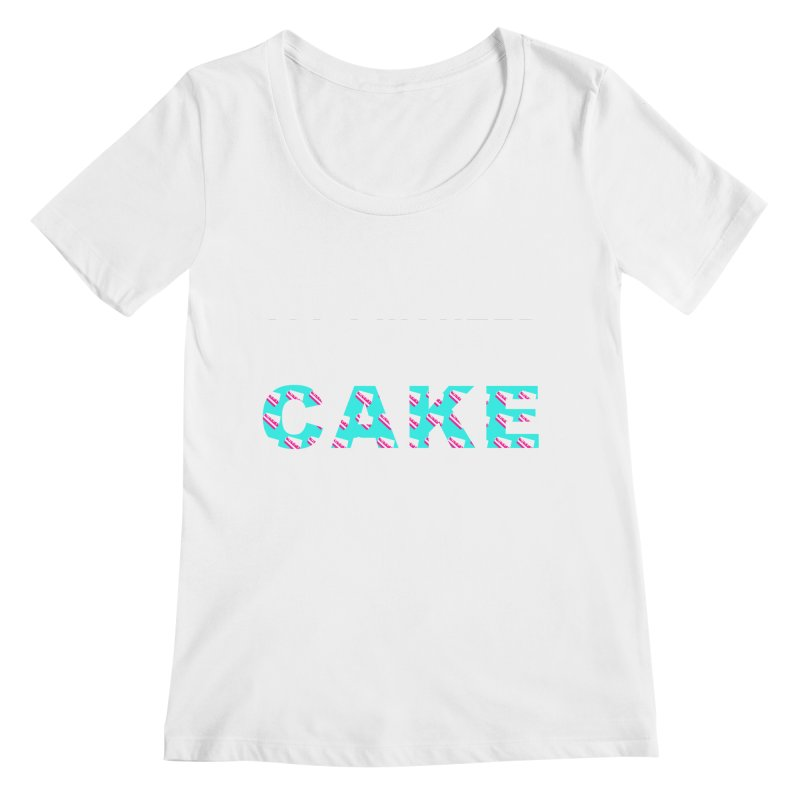 ...NOW I'M PREGNANT (baby blue) Women's Scoopneck by More Cake?