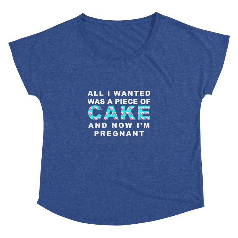 ...NOW I'M PREGNANT (baby blue) Women's  by More Cake?