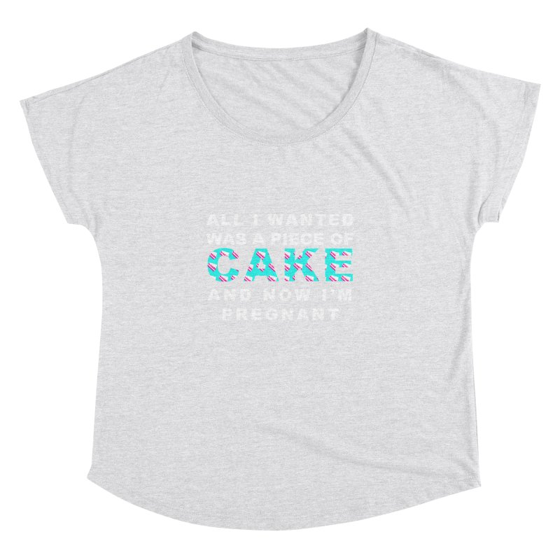 ...NOW I'M PREGNANT (baby blue) Women's Dolman Scoop Neck by More Cake?