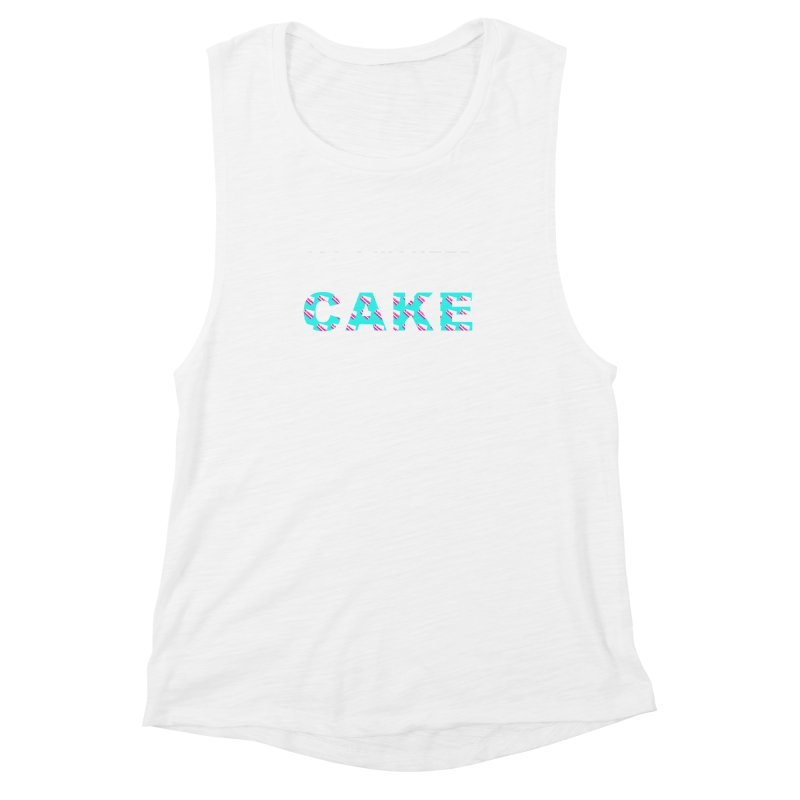 ...NOW I'M PREGNANT (baby blue) Women's Muscle Tank by More Cake?