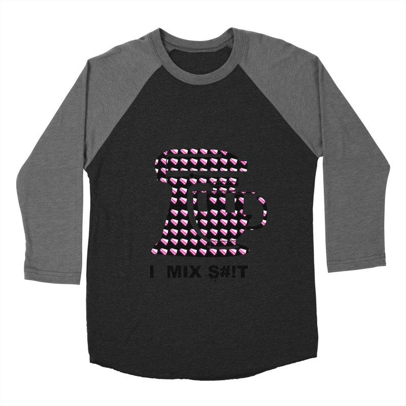 I MIX S#!T (BLK) Men's Baseball Triblend Longsleeve T-Shirt by More Cake?