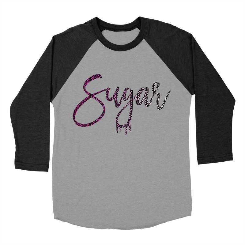 Sugar (PINK) Women's Baseball Triblend Longsleeve T-Shirt by More Cake?