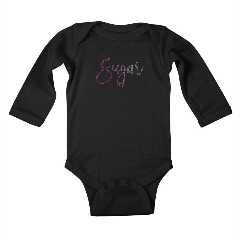 Sugar (PINK) Kids Baby Longsleeve Bodysuit by More Cake?