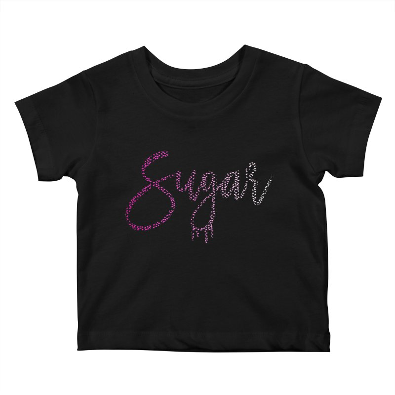 Sugar (PINK) Kids Baby T-Shirt by More Cake?