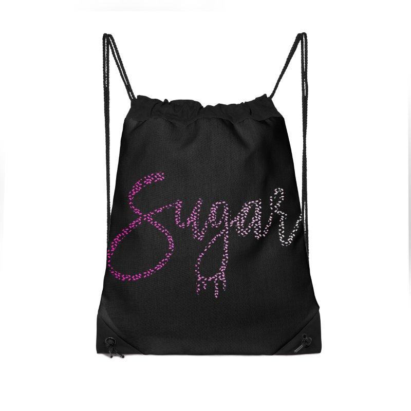 Sugar (PINK) Accessories Drawstring Bag Bag by More Cake?