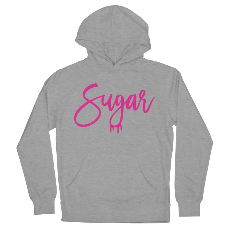 Sugar (Pink) Women's French Terry Pullover Hoody by More Cake?