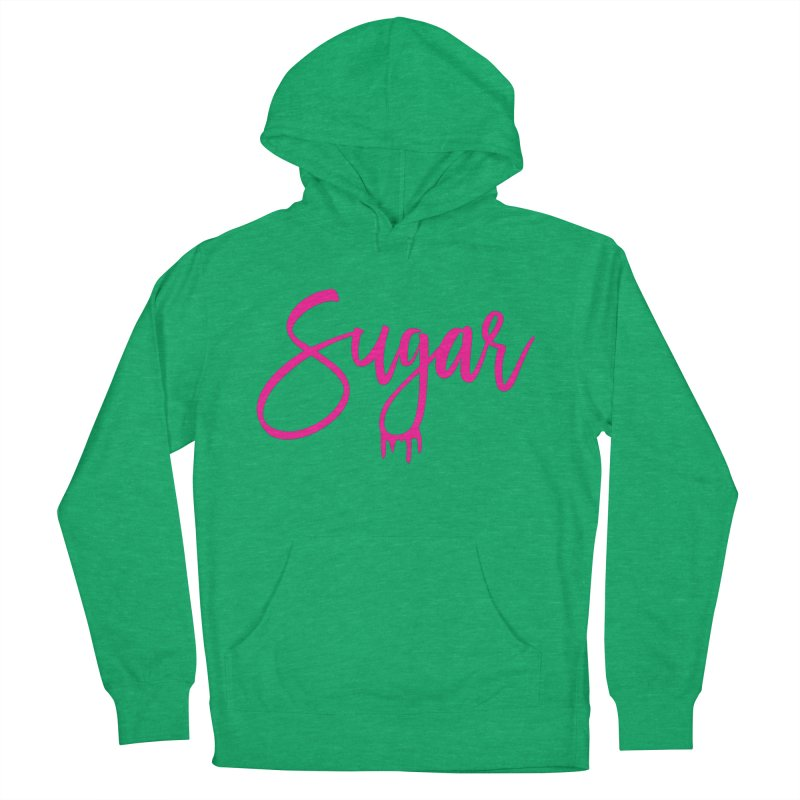 Sugar (Pink) Men's French Terry Pullover Hoody by More Cake?