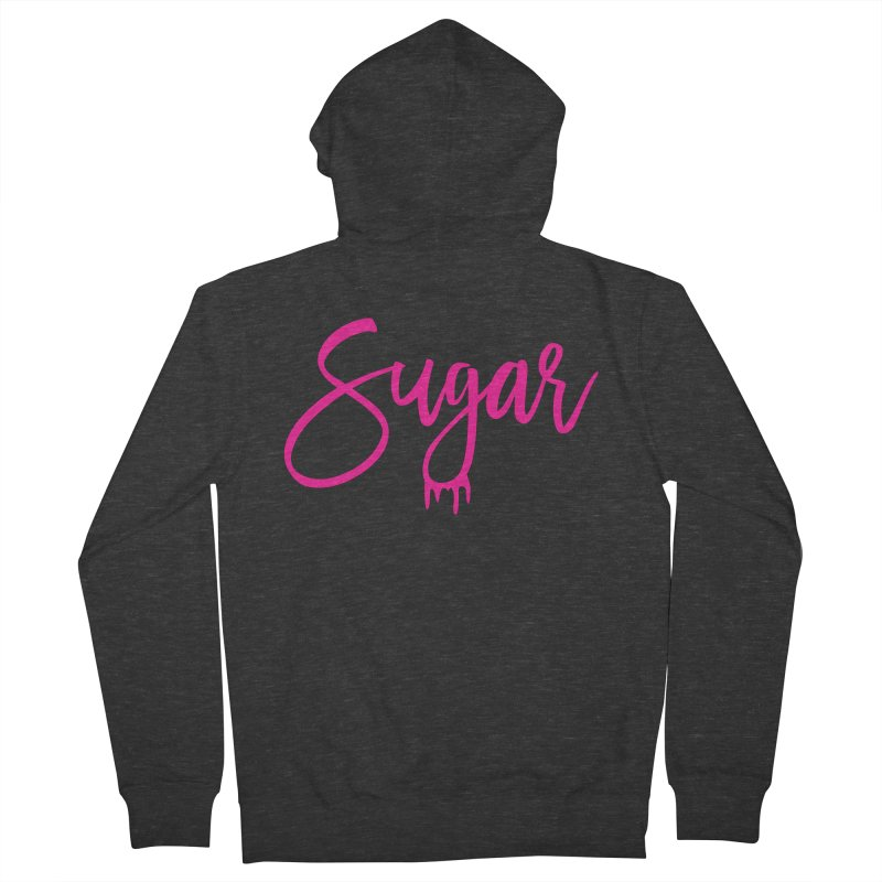 Sugar (Pink) Women's French Terry Zip-Up Hoody by More Cake?