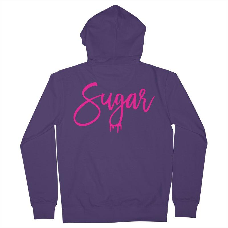 Sugar (Pink) Women's Zip-Up Hoody by More Cake?