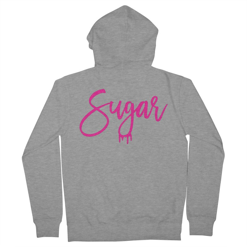 Sugar (Pink) Men's French Terry Zip-Up Hoody by More Cake?