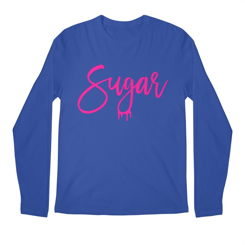 Sugar (Pink) Men's Regular Longsleeve T-Shirt by More Cake?