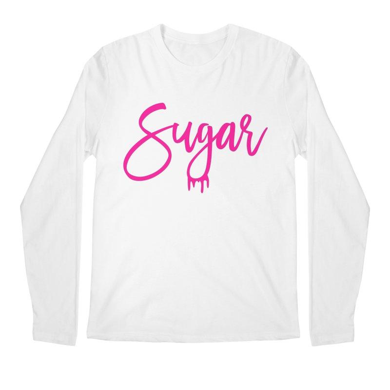 Sugar (Pink) Men's Regular Longsleeve T-Shirt by More Cake?