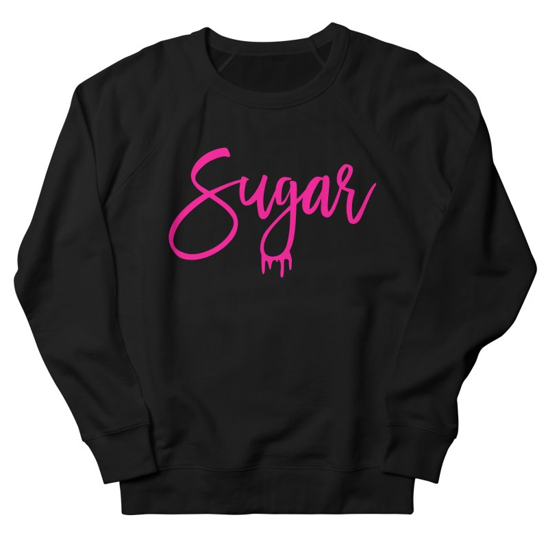 Sugar (Pink) in Women's French Terry Sweatshirt Black by More Cake?
