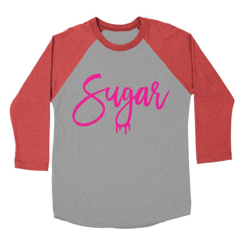 Sugar (Pink) Women's Baseball Triblend T-Shirt by More Cake?