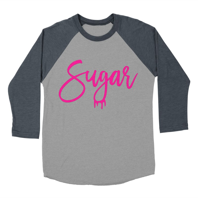 Sugar (Pink) Women's Baseball Triblend Longsleeve T-Shirt by More Cake?