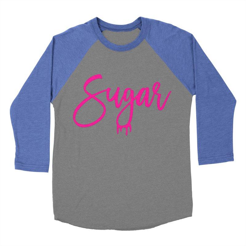 Sugar (Pink) Men's Baseball Triblend Longsleeve T-Shirt by More Cake?