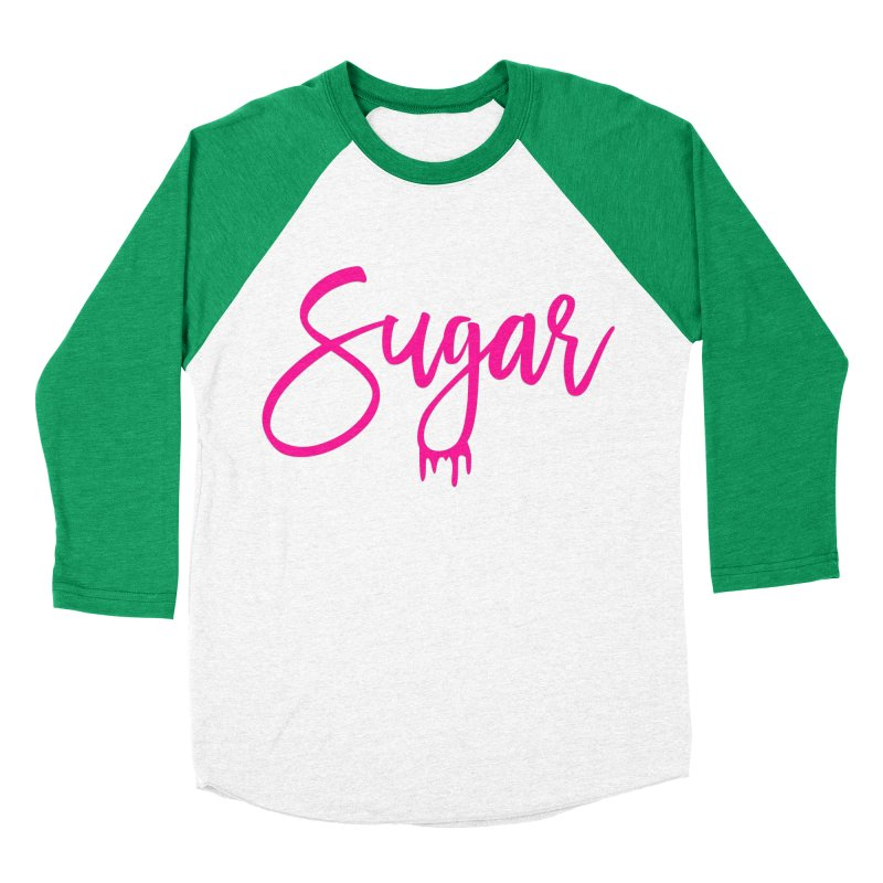 Sugar (Pink) Men's Baseball Triblend Longsleeve T-Shirt by More Cake?