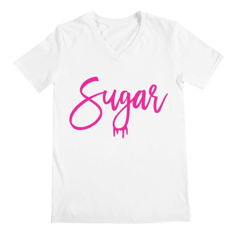 Sugar (Pink) Men's V-Neck by More Cake?