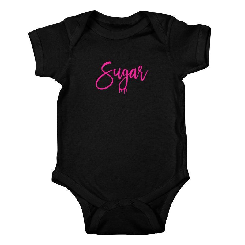 Sugar (Pink) Kids Baby Bodysuit by More Cake?