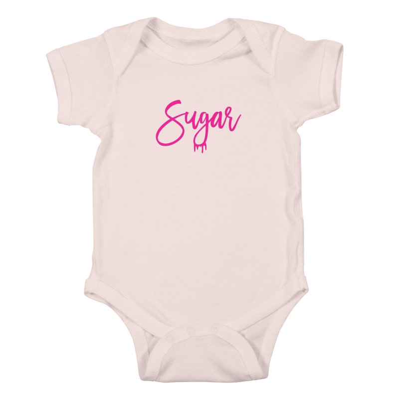 Sugar (Pink) Kids Baby Bodysuit by More Cake?