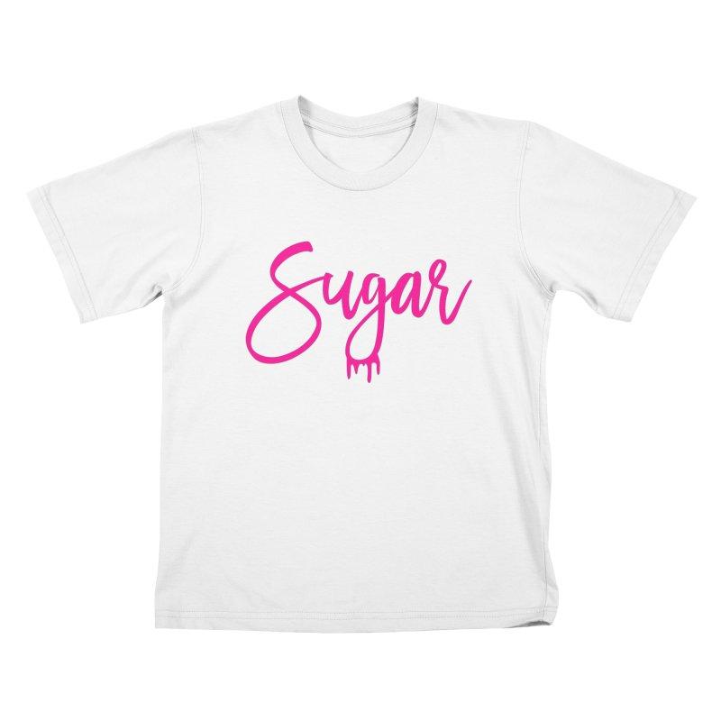 Sugar (Pink) Kids T-Shirt by More Cake?