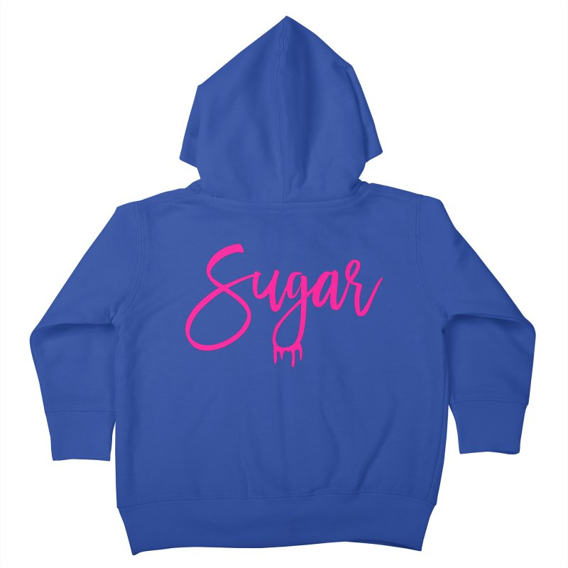 Sugar (Pink) Kids Toddler Zip-Up Hoody by More Cake?