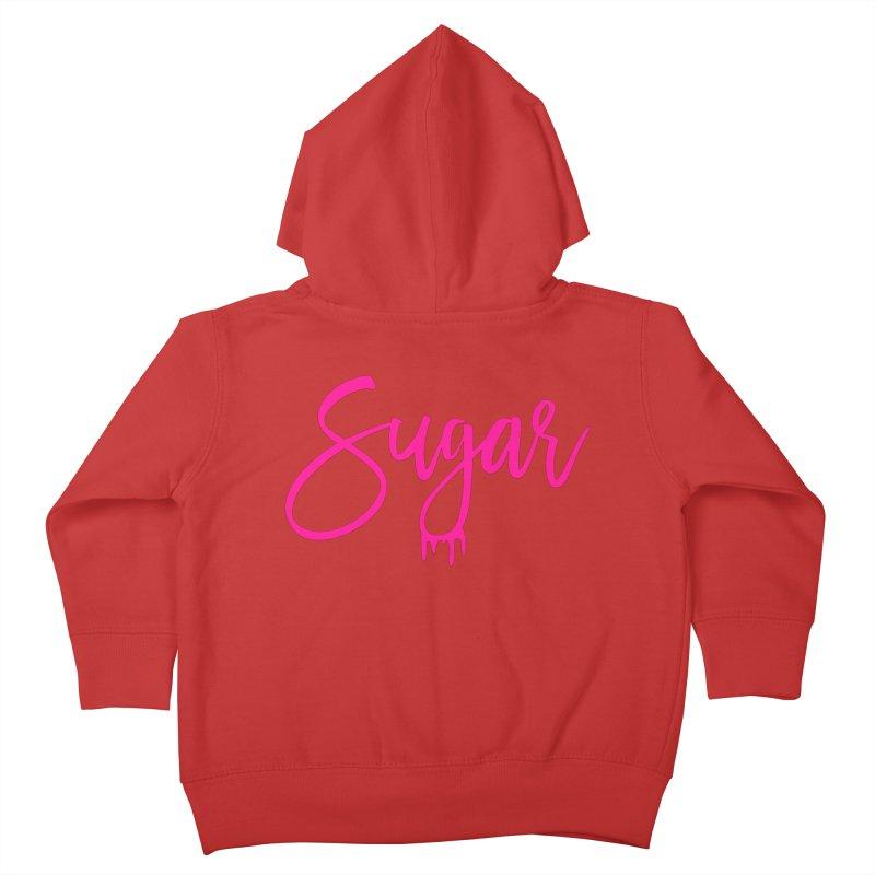 Sugar (Pink) Kids Toddler Zip-Up Hoody by More Cake?