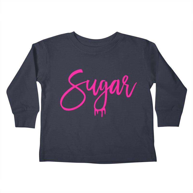 Sugar (Pink) Kids Toddler Longsleeve T-Shirt by More Cake?