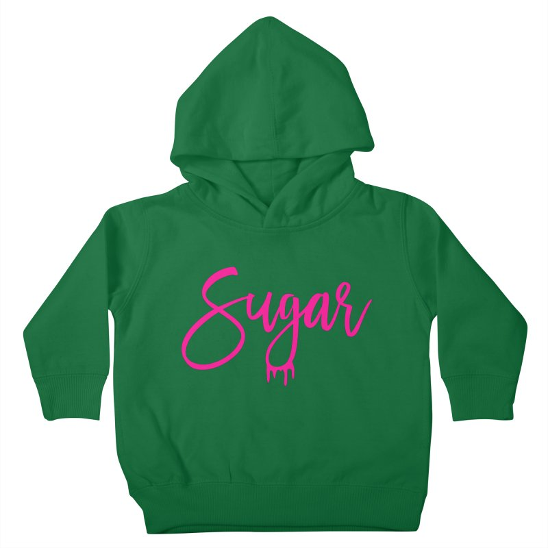 Sugar (Pink) Kids Toddler Pullover Hoody by More Cake?