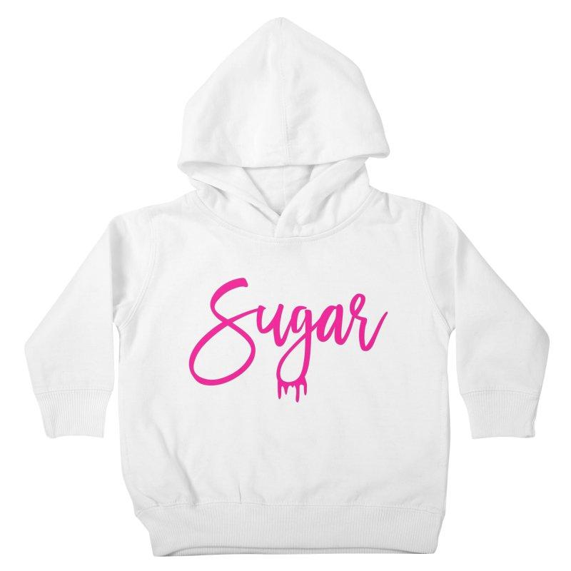 Sugar (Pink) Kids Toddler Pullover Hoody by More Cake?