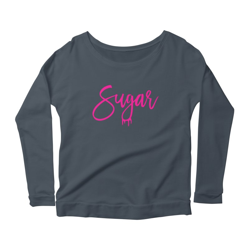 Sugar (Pink) Women's Scoop Neck Longsleeve T-Shirt by More Cake?