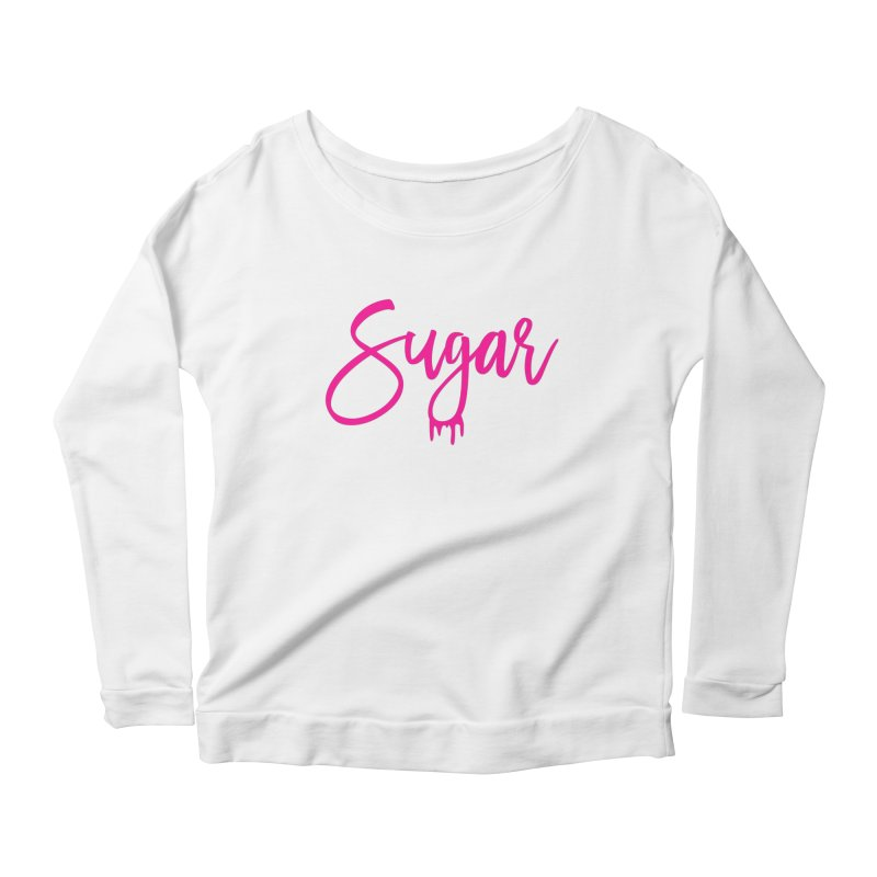 Sugar (Pink) Women's Scoop Neck Longsleeve T-Shirt by More Cake?