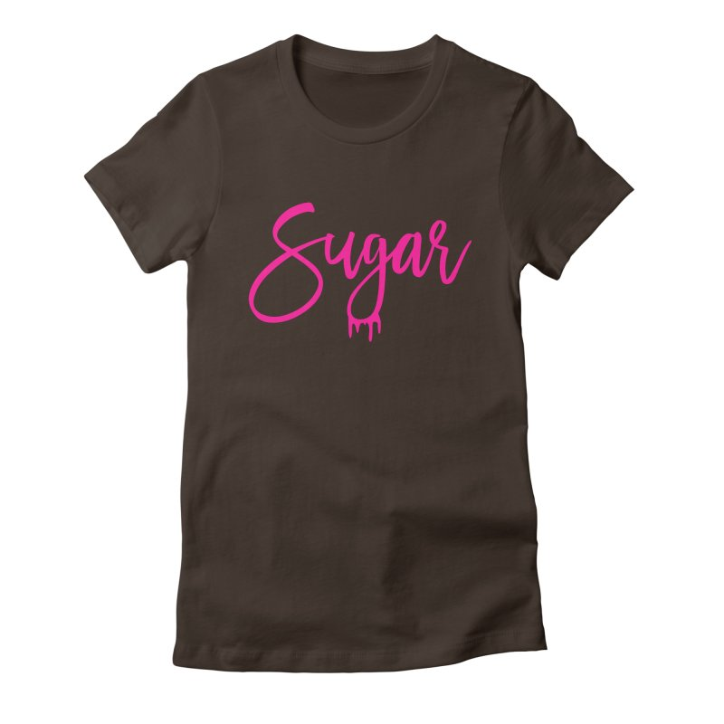 Sugar (Pink) Women's Fitted T-Shirt by More Cake?