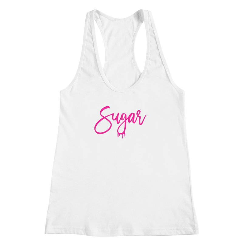 Sugar (Pink) Women's Racerback Tank by More Cake?
