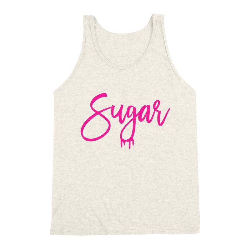 Sugar (Pink) Men's Triblend Tank by More Cake?