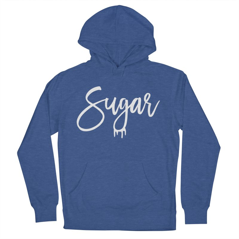 Sugar (White) Men's French Terry Pullover Hoody by More Cake?