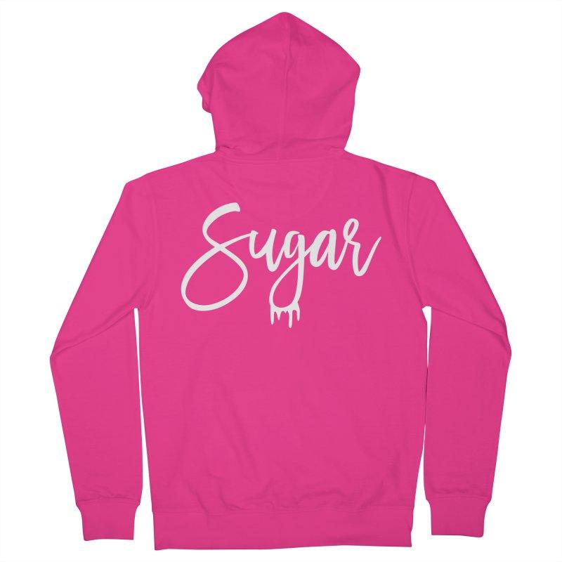 Sugar (White) Men's Zip-Up Hoody by More Cake?