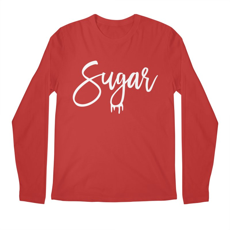 Sugar (White) Men's Regular Longsleeve T-Shirt by More Cake?