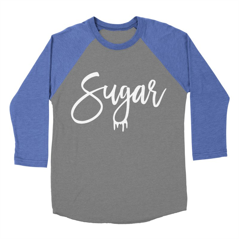 Sugar (White) Men's Baseball Triblend Longsleeve T-Shirt by More Cake?