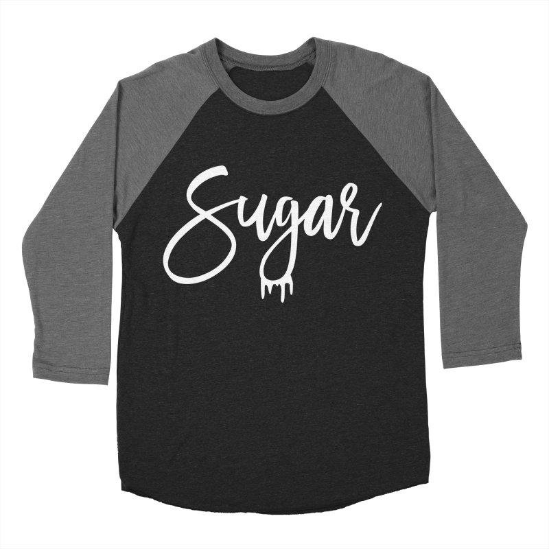 Sugar (White) Men's Baseball Triblend T-Shirt by More Cake?