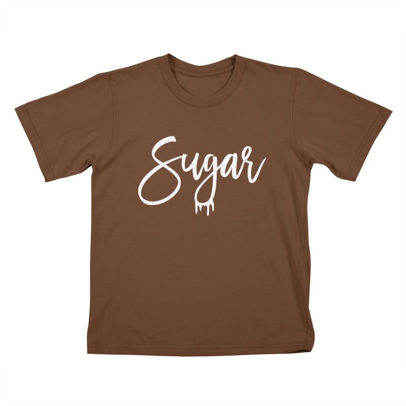Sugar (White) Kids T-Shirt by More Cake?