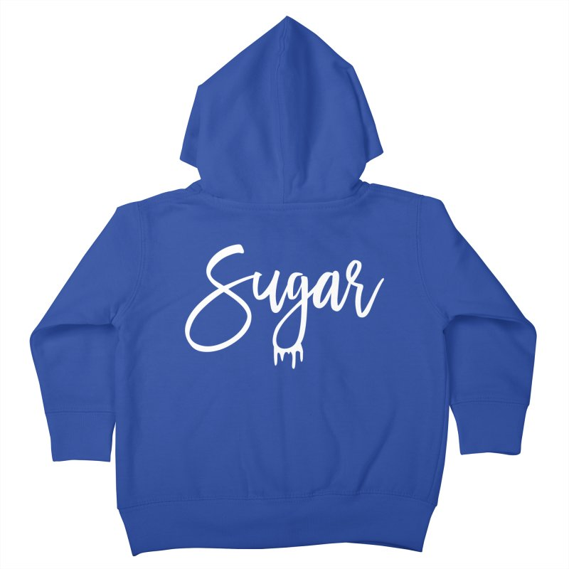 Sugar (White) Kids Toddler Zip-Up Hoody by More Cake?