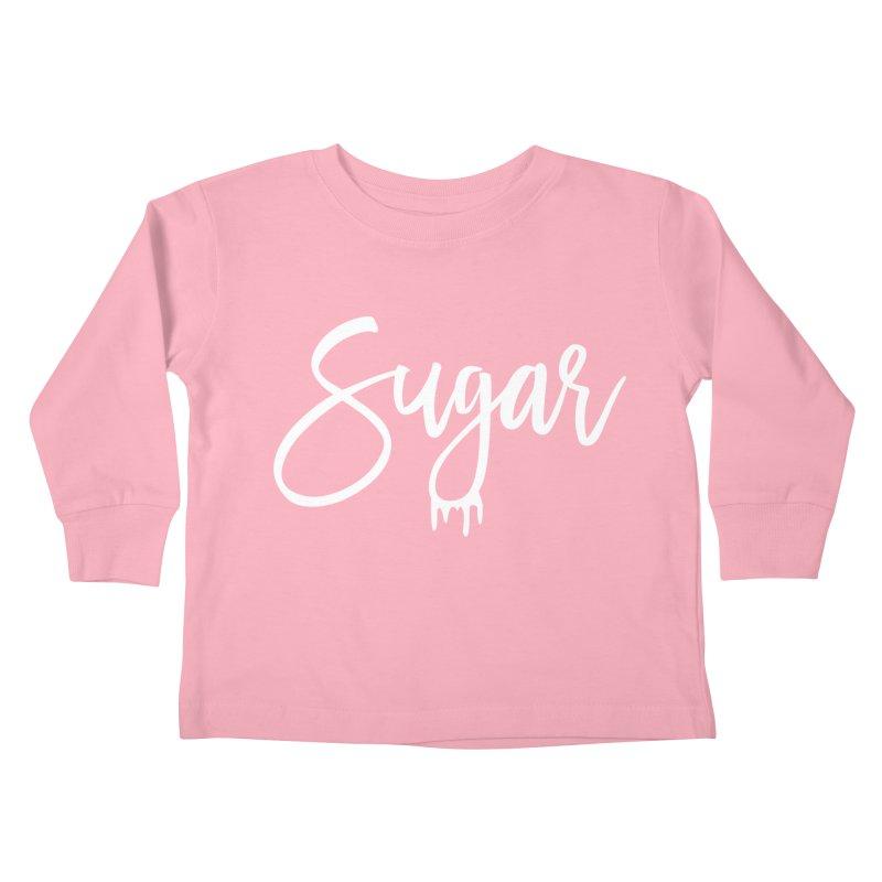 Sugar (White) Kids Toddler Longsleeve T-Shirt by More Cake?