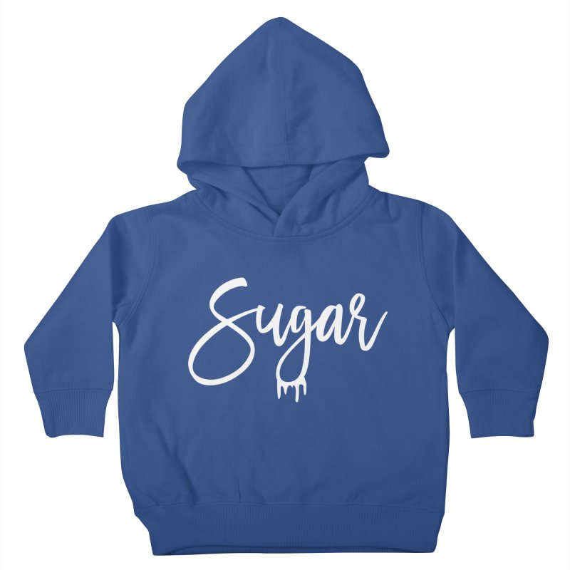 Sugar (White) Kids Toddler Pullover Hoody by More Cake?