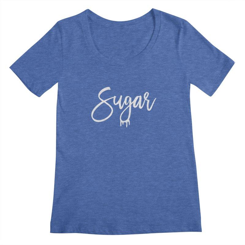 Sugar (White) Women's Regular Scoop Neck by More Cake?