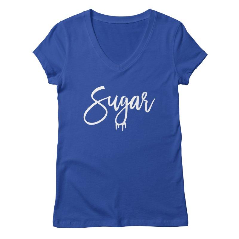 Sugar (White) Women's V-Neck by More Cake?