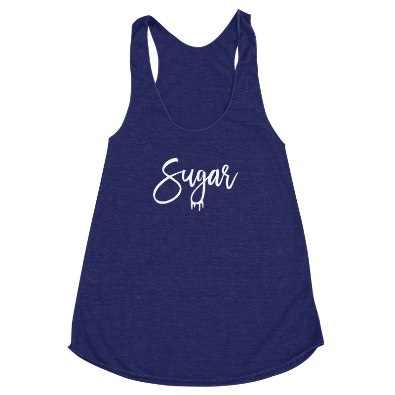 Sugar (White) Women's Racerback Triblend Tank by More Cake?