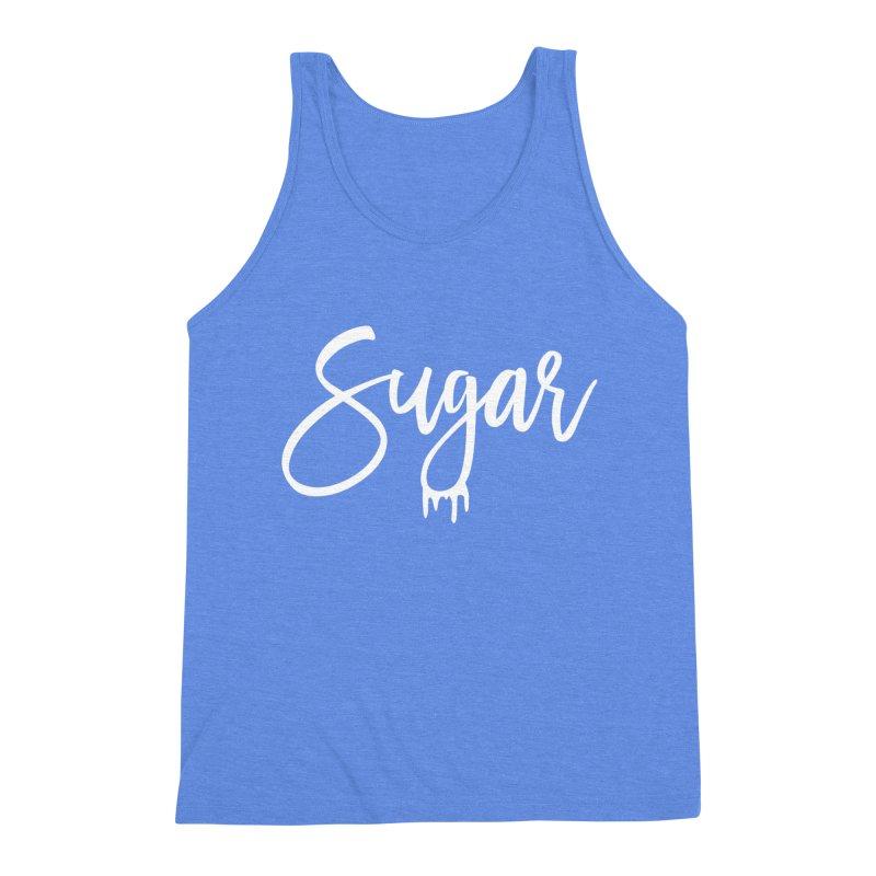 Sugar (White) Men's Triblend Tank by More Cake?