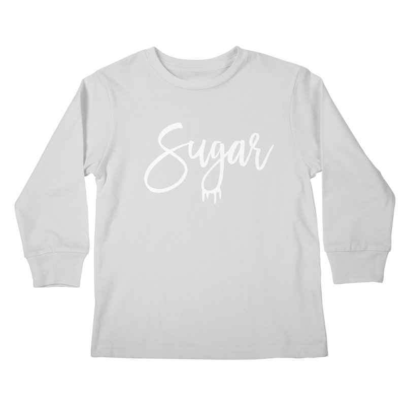 Sugar (White) Kids Longsleeve T-Shirt by More Cake?