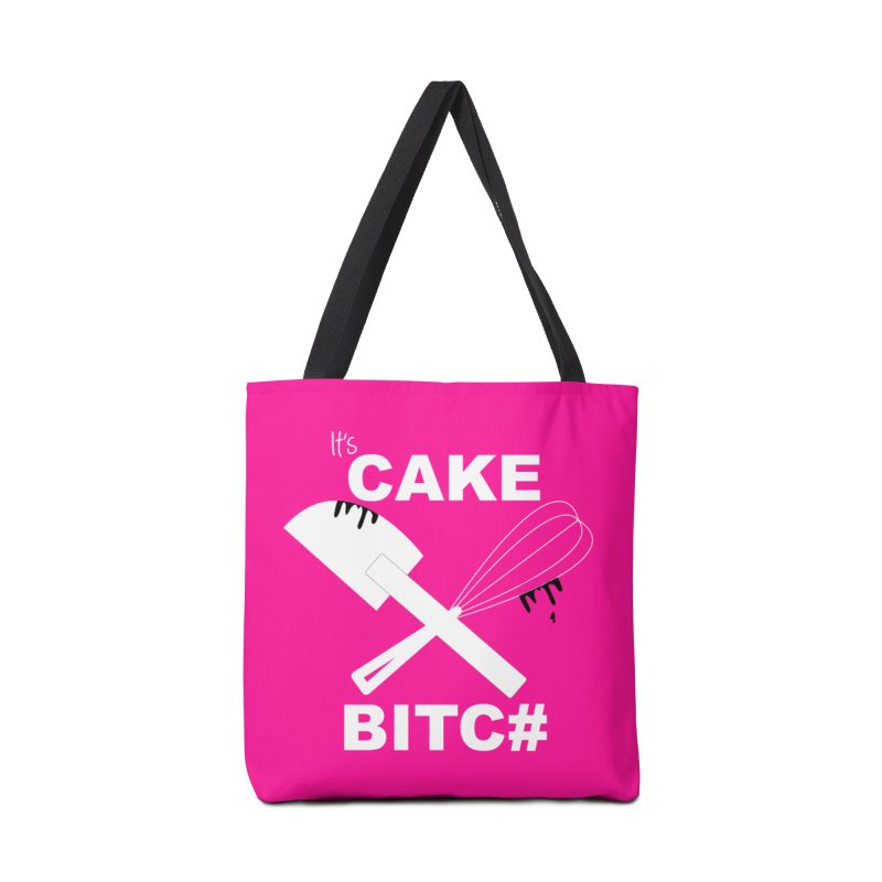 IT'S CAKE BITC# (Wht w/ blk) Accessories Bag by More Cake?